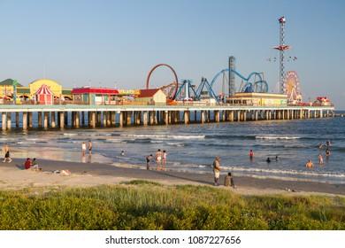 Galveston beach in Houston
