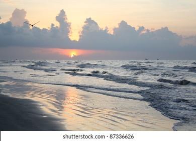 Galveston Island Texas Beach