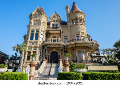 GALVESTON, TEXAS USA - MAY 6, 2014: The Bishop's Palace in Galveston built by Walter Gresham is an extravagantly decorated house with a Victorian adaptation of the classic Renaissance style.