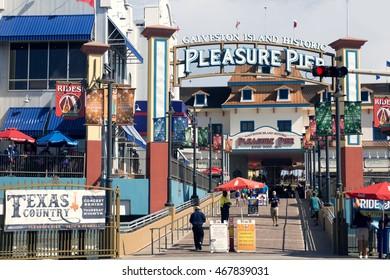 GALVESTON, TEXAS/USA - July 17, 2016: Galveston Island Historic Pleasure Pier