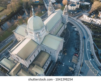 Galway Cathedral, Galway / Ireland - January 29 2018: Birds Eye view of the prestigious Galway Cathedral
