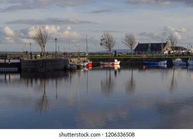 Galway City view with Corrib river, Ireland