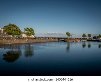 Galway Claddagh is a popular place in summer - travel photography