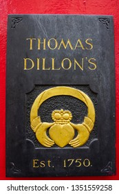 Galway, Ireland 10th Jan 2013 Thomas Dillon Jewelers makers of the Claddagh Ring in Galway