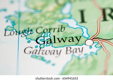 Galway Bay Ireland Map.Galway Ireland Map Stock Photos Images Photography Shutterstock