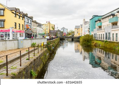 GALWAY, IRELAND. 5th APRIL,2017 :  Galway is a city in the West of Ireland in the province of Connach and  lies on the River Corrib between Lough Corrib and Galway Bay