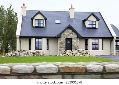 Galway, Ireland - August 26, 2014: Modern accommodation on the outskirts of town Galway in Ireland.