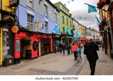 GALWAY, IRELAND - JULY 13, 2016: Pub in Galway, Ireland. Galway will be European Capital of Culture in 2020