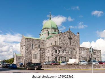 GALWAY, IRELAND - JULY 29, 2009: Cathedral of Our Lady Assumed into Heaven and St Nicholas known as Galway Cathedral. The Architect of the Cathedral was John J. Robinson.