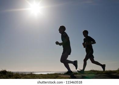 GALWAY, IRELAND - OCTOBER 6: Unidentified athletes compete during annual Galway Bay Half Marathon and 10K, on October 6, 2012 in Galway, Ireland.