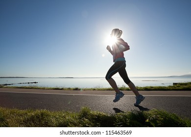 GALWAY, IRELAND - OCTOBER 6: Unidentified athlete compete during annual Galway Bay Half Marathon and 10K, on October 6, 2012 in Galway, Ireland.