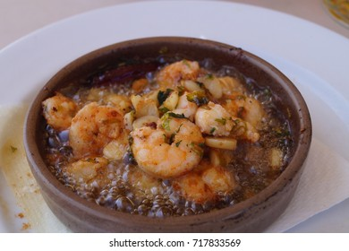 Gambas Al Ajillo - traditional spanish food
