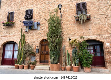 Gambassi Terme, Florence, Tuscany, Italy: buildings of the medieval city. Street