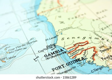 Gambia On Africa Map.Gambia Map Images Stock Photos Vectors Shutterstock