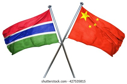 Gambia flag  combined with china flag