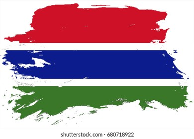 Gambia flag grunge background. Background for design in country flag