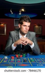 gambler at a casino table