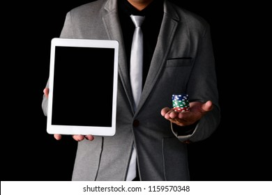 Gambling Concepts. Business people are gambling in the casino. Betting is a gamble for investors.