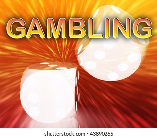 Gambling dice betting luck concept background illustration abstract