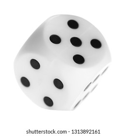 Gambling dice, macro isolated on white background, top view and clipping path, series