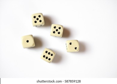 Gambling dices isolated on white background