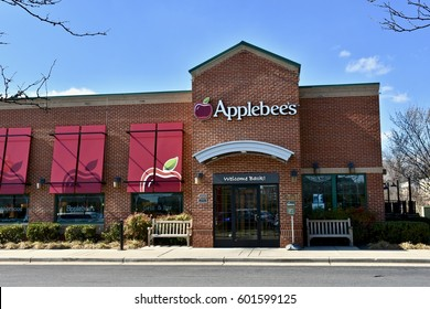 GAMBRILLS, USA - MARCH 12, 2017: An Applebees restaurant. Applebee's International, Inc. is an American company which develops, franchises, and operates the Applebee's restaurant chain.