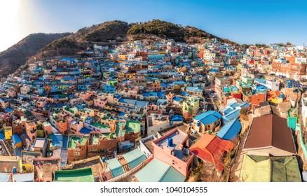 Gamcheon Culture Village Beautiful color ,Busan , South Korea