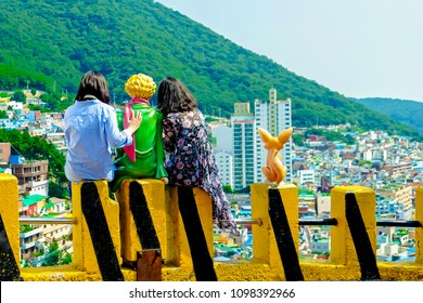 Gamcheon culture village in Busan South Korea.