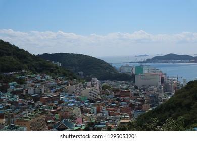 Gamcheon village , busan south korea 21-09-2018