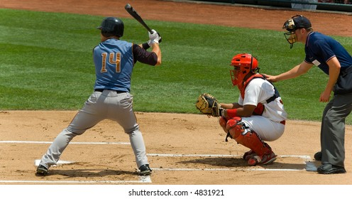 Game of baseball played by young men