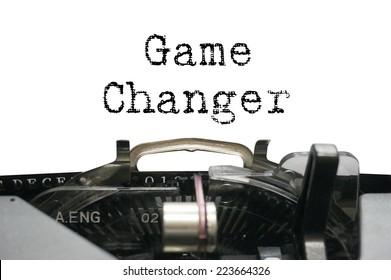 Game changer on typewriter