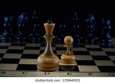 Game of chess. Before the fight.