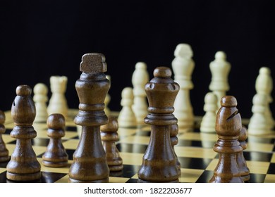 Game of chess. Waiting for the first move