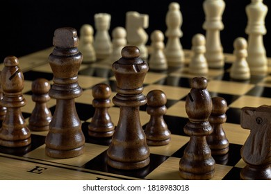 Game of chess. Waiting for a move.