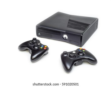 Game console isolated on white background