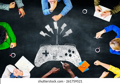 Game Controller Control Confusion Technology Concept
