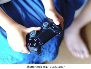 game controller and hand
