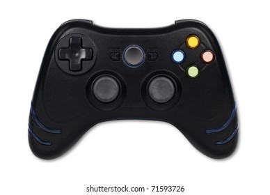Game Controller on white with clipping path