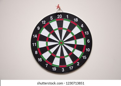 The game of darts close-up.