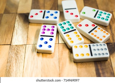 game of domino on wood,Domino background