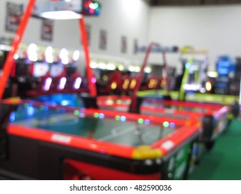 Game machine shopping mall in blur background