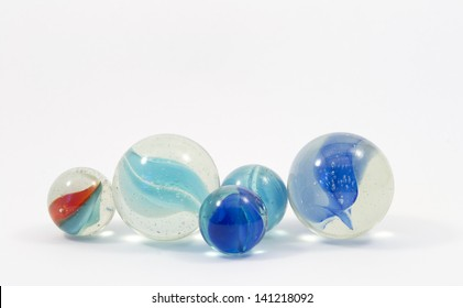 Game marbles in different colors and sizes