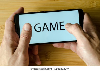 Game on the phone screen.