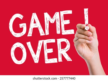 Game Over Leads written on the wipe board