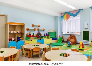 game room in the kindergarten