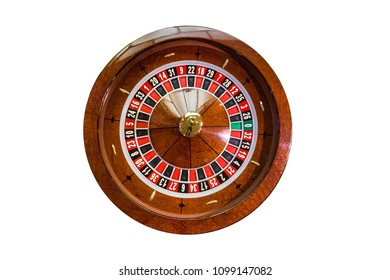 game table roulette from elite casino isolated on white background