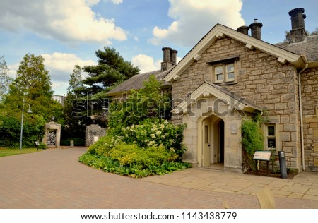 gamekeepers cottage information office entrance royal stock photo rh shutterstock com