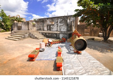 Gamelan, Javanese Traditional Music Instrument at Warung Boto Archaeological Site, Yogyakarta, Indonesia.