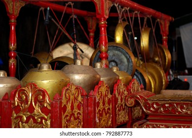 gamelan traditional musical instruments from Java, Indonesia