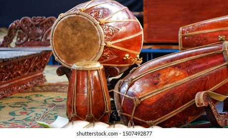 Gamelan, traditional percussive music instruments in Bali and Java, Indonesia. Kendang is one of Gamelan instrument.